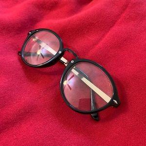 Clear Lense Glasses with Black Frame